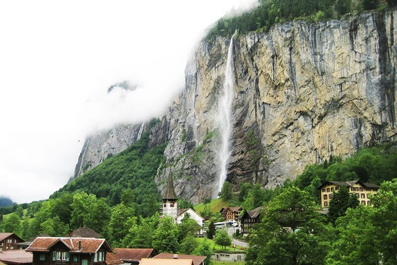 GREATEST ATTRACTION OF LAUTERBRUNNEN, THE STAUBBACH FALLS