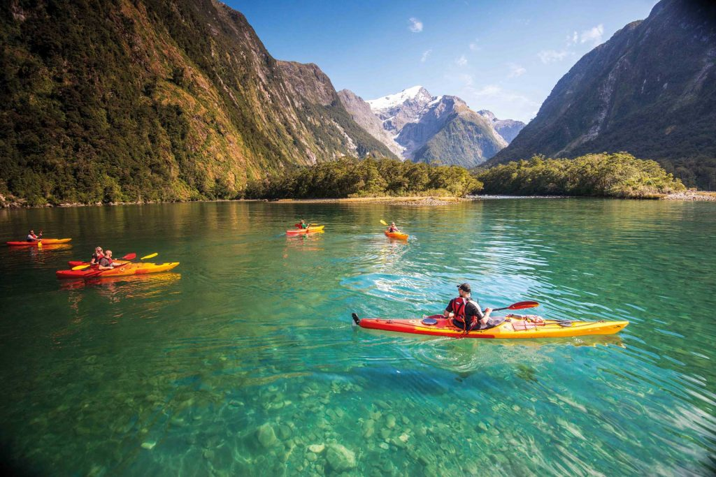 KAYAKING THROUGH THE PROFESSIONAL CIALIS ONLINE MILFORD SOUND, NEW ZEALAND WATERS