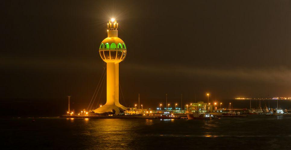 THE JEDDAH LIGHTHOUSE IN SAUDI ARABIA