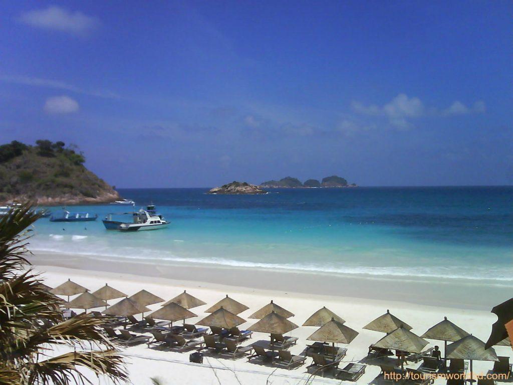 Pristine white sand beach of Redang Island