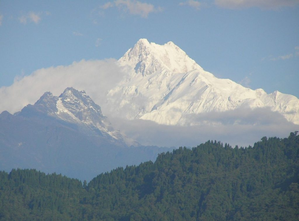 VIEW OF MT.KANCHENDZONGA FROM GANGTOK