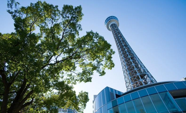 YOKOHAMA MARINE TOWER CLOSER VIEW