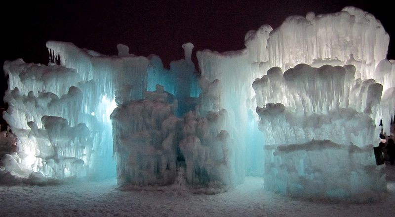 LIGHTS IN THE ICE CASTLES IN SILVERTHORNE