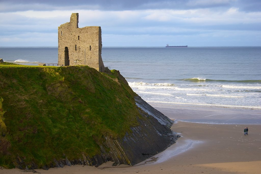 ON TOP OF THE HILL IS THE BALLYBUNION CASTLE