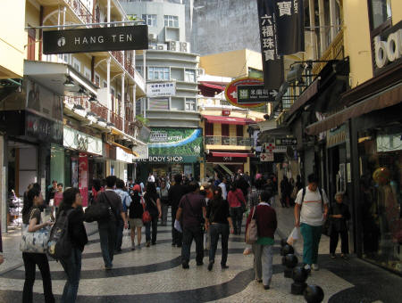 SHOPPING AT THE FISHERMAN'S WHARF IN MACAU