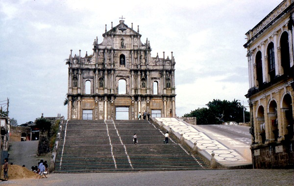 THE FRONT ARCHITECTURAL BUILDING AT ST. PAUL'S MACAU
