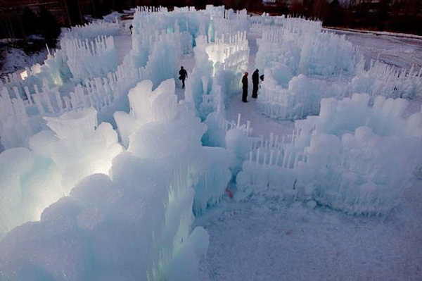 VARIOUS STRUCTURES OF ICE CASTLES IN SILVERTHORNE