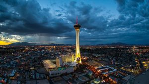 STRATOSPHERE TOWER-A NIGHT VIEW