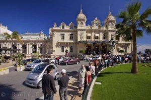 The bustling centre of Monte Carlo , Monaco is the Place du Casino