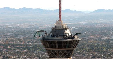 Experience The 'Sky Jump' at Stratosphere Tower, Las Vegas